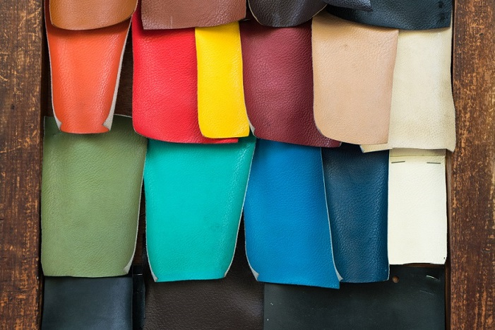 artificial, vegan leather in different colors