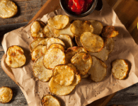 baked potato chips- a healthy snack alternative