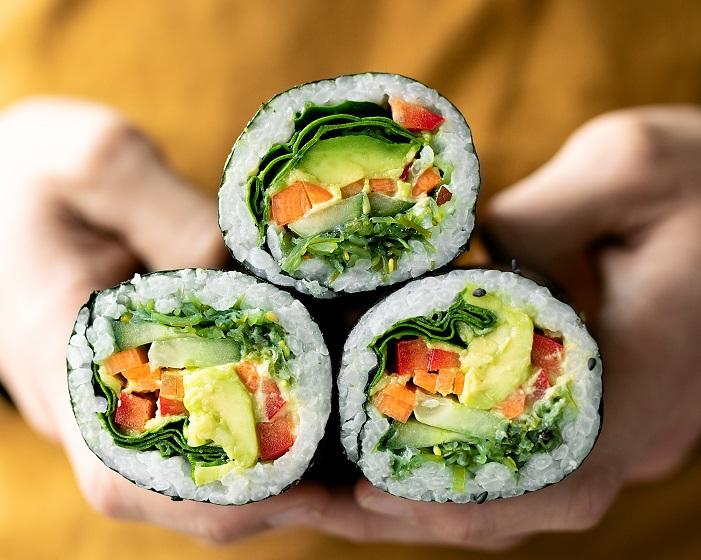 Vegan sushi burrito snack