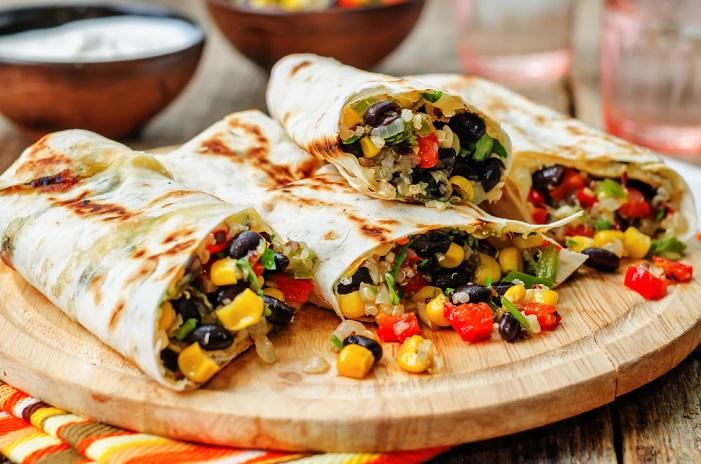 flexitarian bean burrito