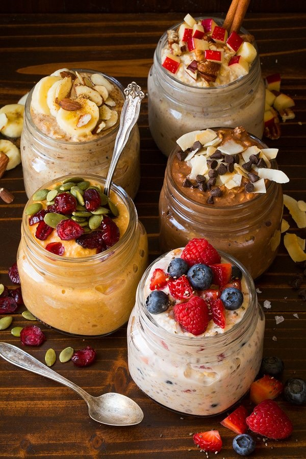 Overnight oats breakfast meal prep recipe