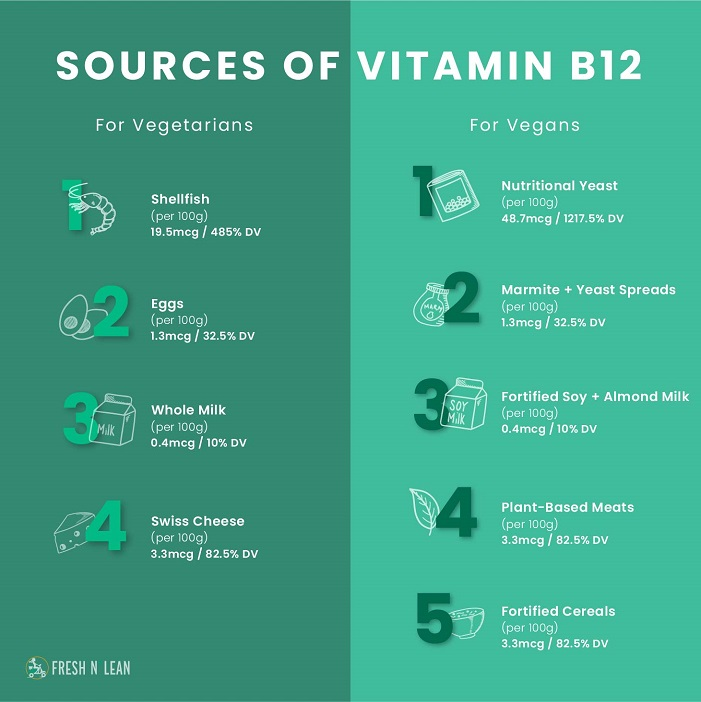 Vegan and Vegetarian Sources of B12 Vitamin