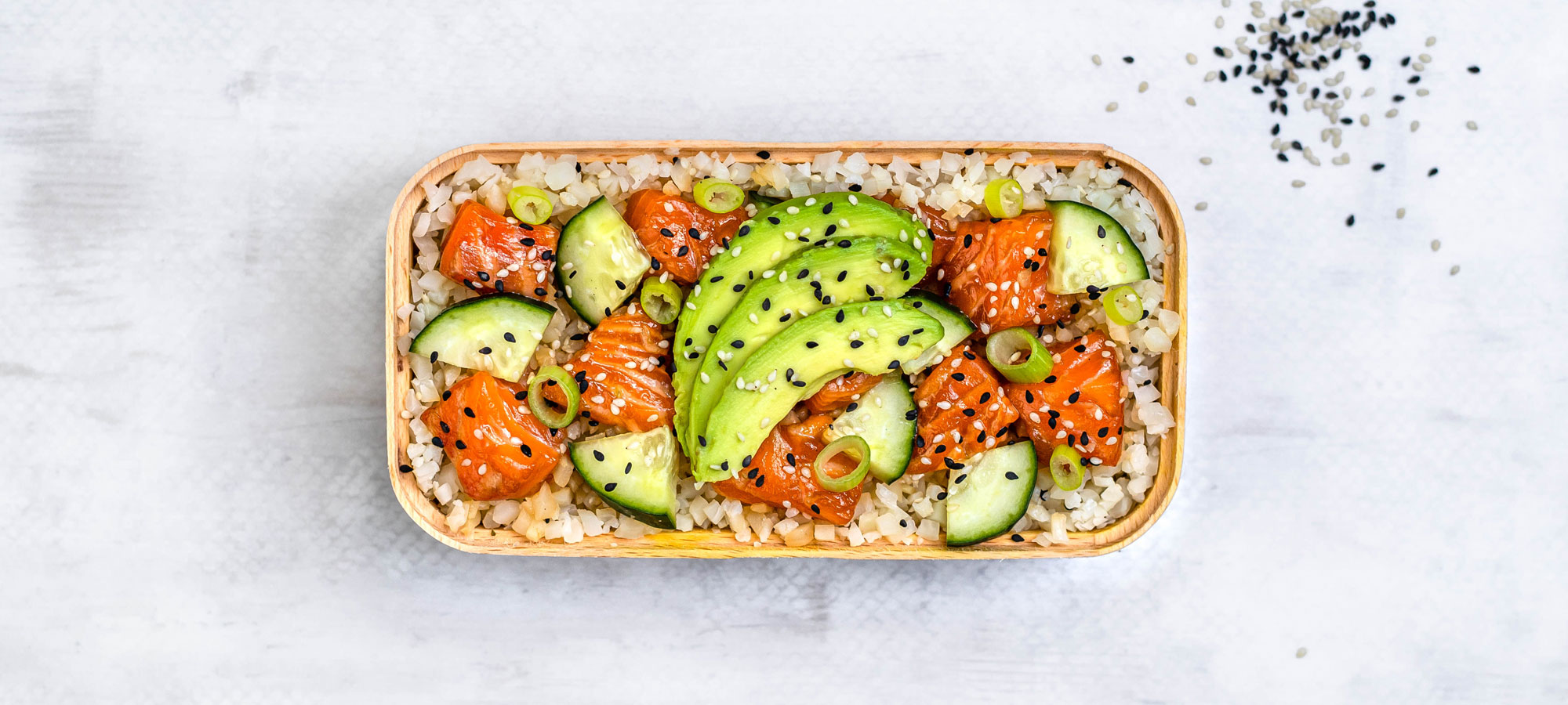Keto salmon sushi bowl recipe