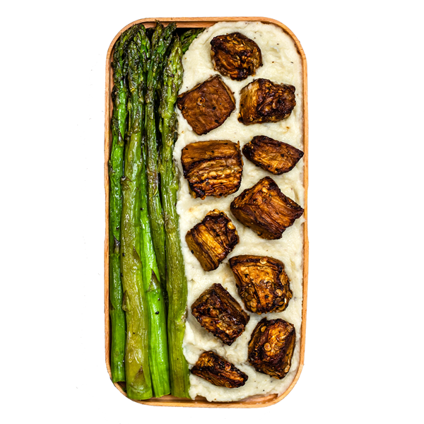 Vegan eggplant bites