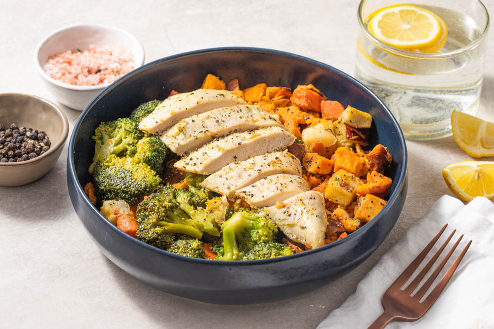 Roasted Cage Free Chicken With Root Veggies