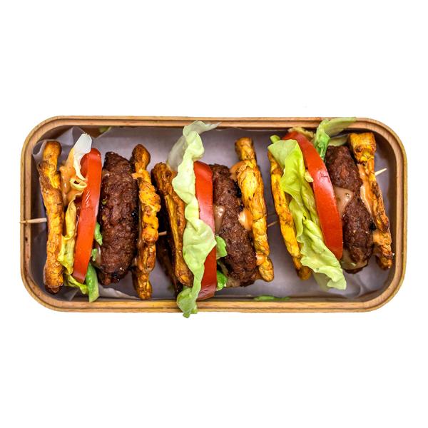 Beyond Meat tostones sliders