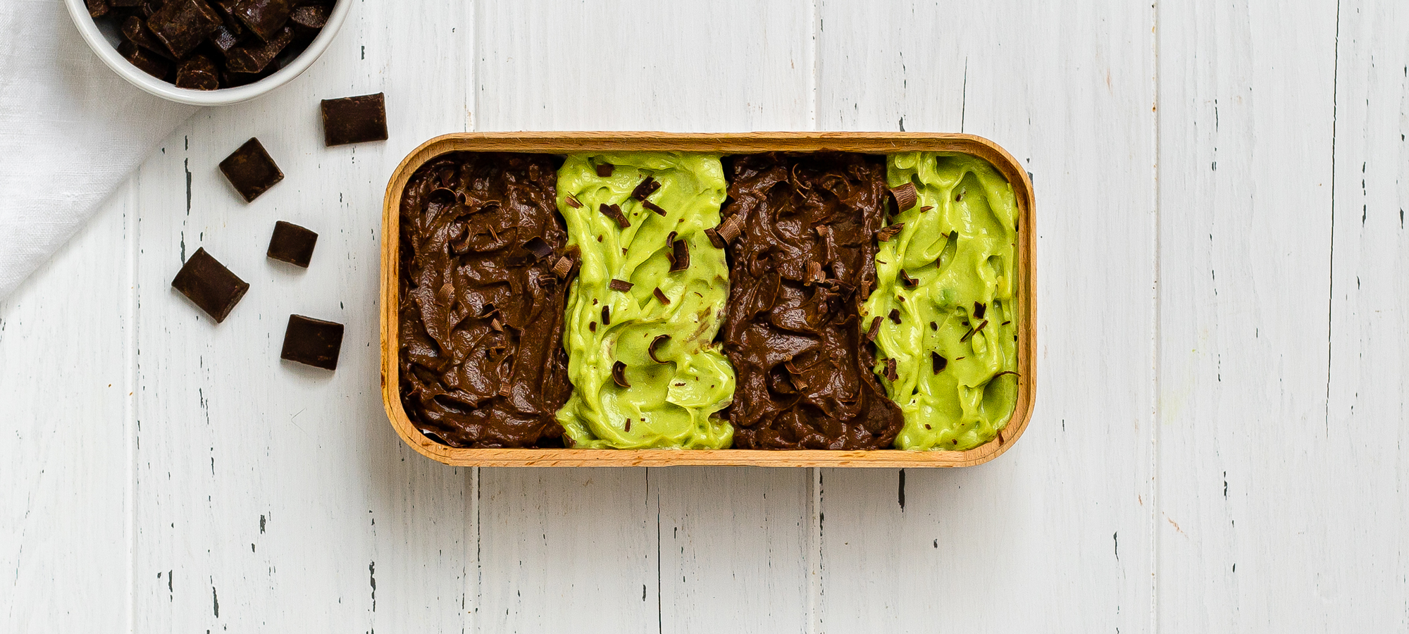 Keto mint chocolate mousse