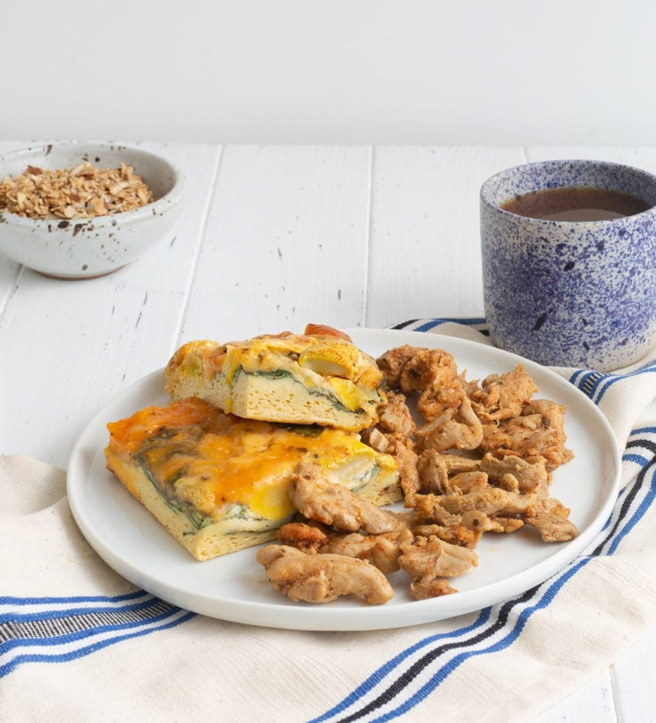 Keto Chicken Frittata breakfast meal
