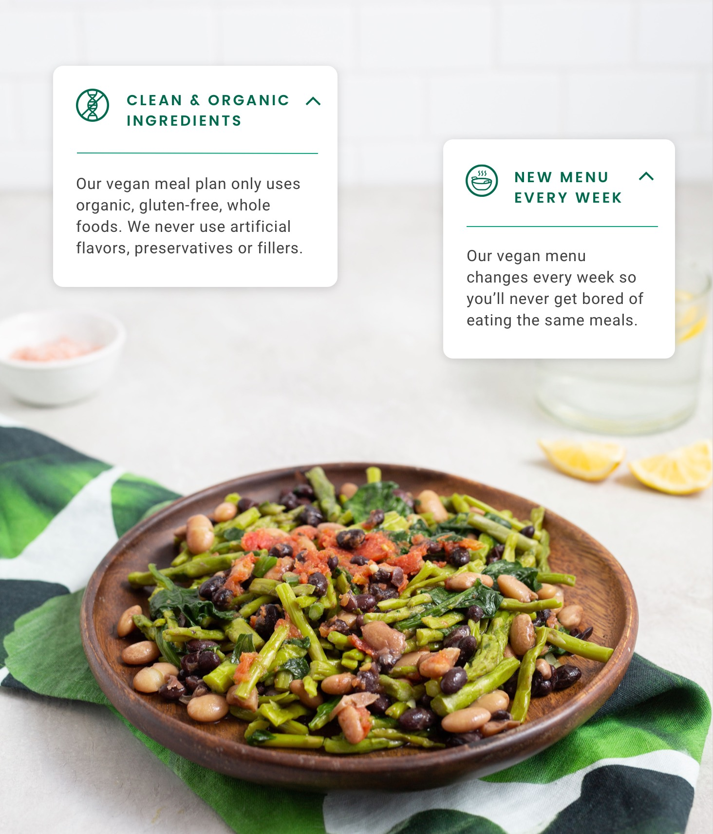 Asparagus meal ingredients highlight