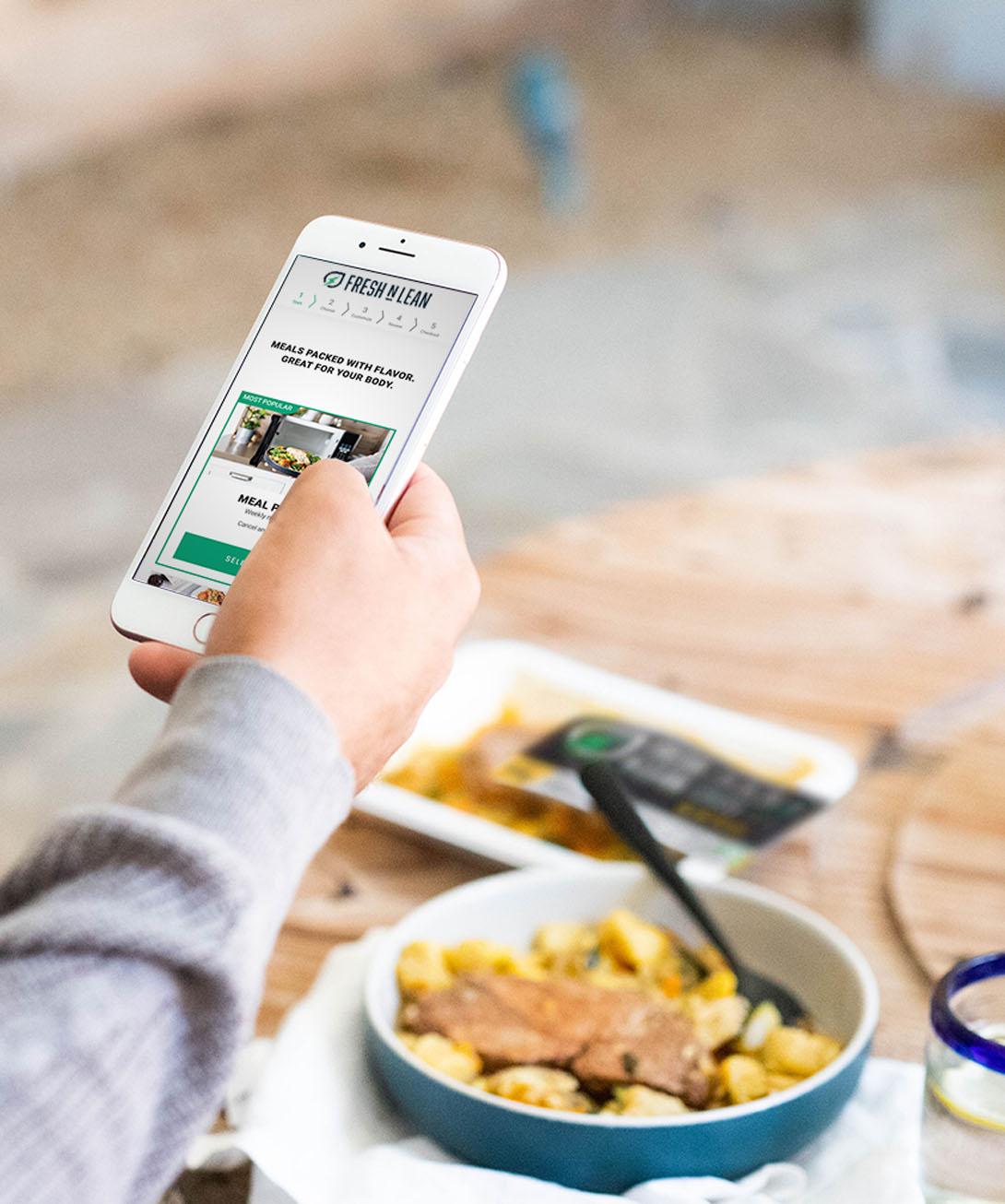 Ordering meals online